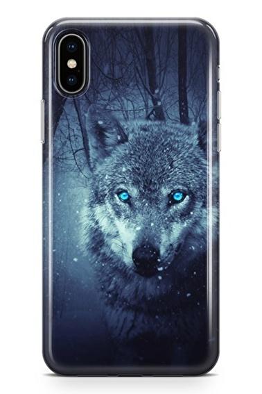 Lopard iPhone Xs Max Kılıf Silikon Arka Kapak Koruyucu Büyük Kurt Desenli Full HD Baskılı Renkli
